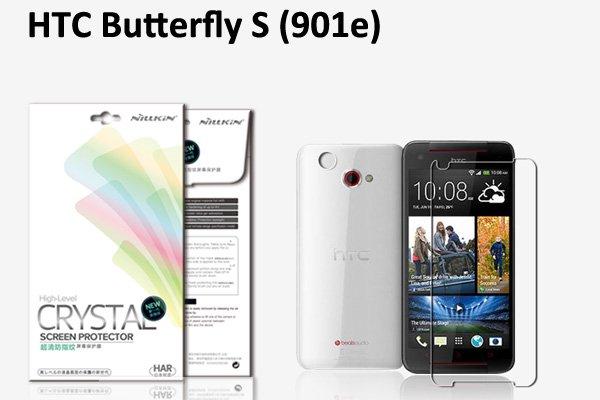 【ネコポス送料無料】HTC Butterfly S (901e) 液晶保護フィルムセット クリスタルクリアタイプ  [1]