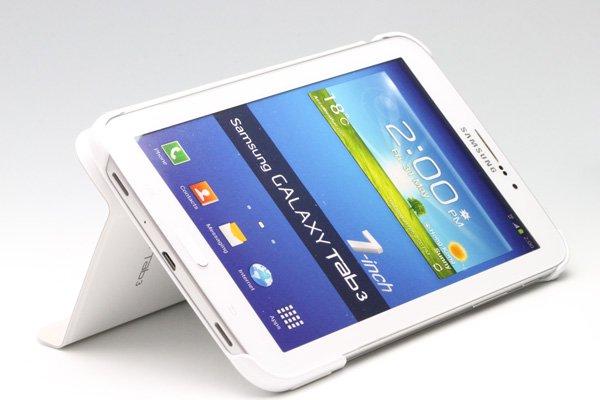 GALAXY Tab3 7.0 (P3200) Samsung Book Cover ブックカバーケース ホワイト  [3]