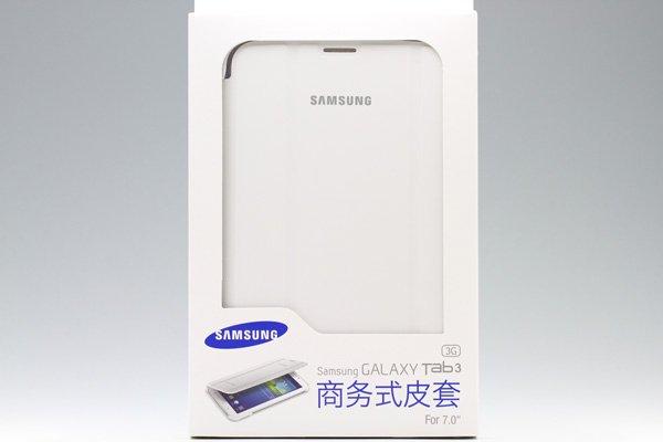 GALAXY Tab3 7.0 (P3200) Samsung Book Cover ブックカバーケース ホワイト  [4]
