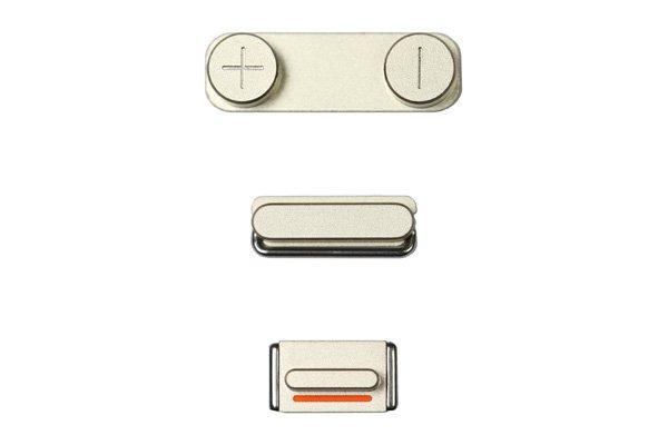 【ネコポス送料無料】Apple iPhone5s ボタン3点セット(スリープ マナー ボリューム) ゴールド  [1]