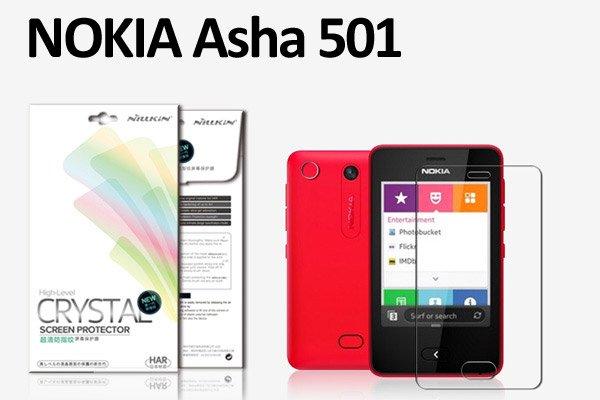 【ネコポス送料無料】NOKIA Asha 501用 液晶保護フィルムセット クリスタルクリアタイプ  [1]