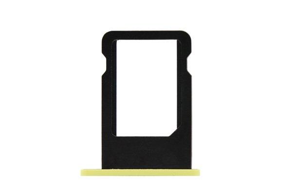 【ネコポス送料無料】Apple iPhone5c SIMカードトレイ イエロー  [1]