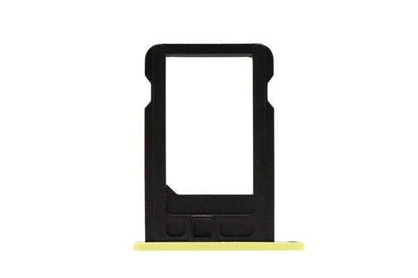 【ネコポス送料無料】Apple iPhone5c SIMカードトレイ イエロー  [2]