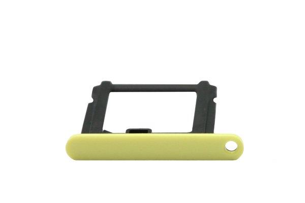 【ネコポス送料無料】Apple iPhone5c SIMカードトレイ イエロー  [3]