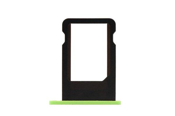 【ネコポス送料無料】Apple iPhone5c SIMカードトレイ グリーン  [1]