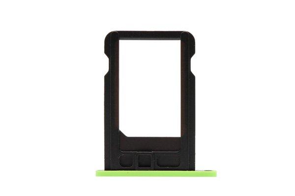 【ネコポス送料無料】Apple iPhone5c SIMカードトレイ グリーン  [2]