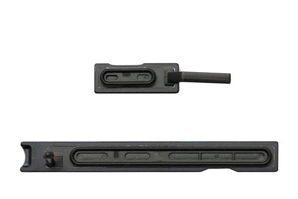【ネコポス送料無料】Xperia Z Ultra (SOL24 C6833) キャップセット ブラック  [2]