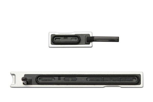 【ネコポス送料無料】Xperia Z Ultra (SOL24 C6833) キャップセット シルバー  [2]