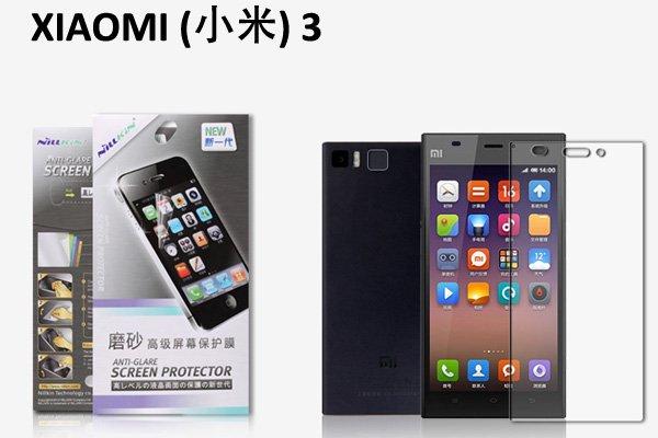【ネコポス送料無料】Xiaomi (小米) Mi3 液晶保護フィルムセット アンチグレアタイプ  [1]