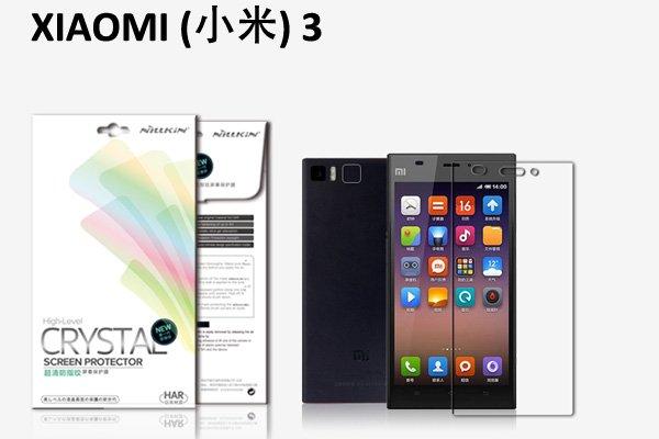 【ネコポス送料無料】Xiaomi (小米) Mi3 液晶保護フィルムセット クリスタルクリアタイプ  [1]