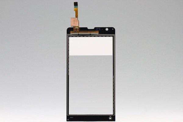Xperia SP (M35h) タッチガラス ブラック  [2]