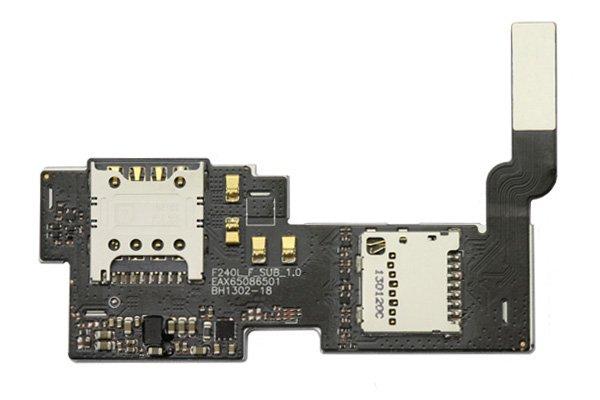 【ネコポス送料無料】Optimus G Pro(LG-F240S/K/L) SIMスロット & SDスロット ケーブルASSY  [1]