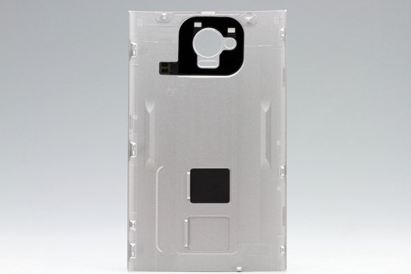 【ネコポス送料無料】HTC J One (HTL22) バックカバー シルバー  [2]