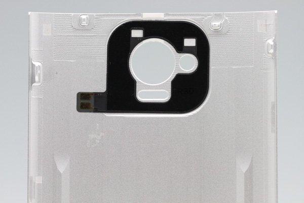 【ネコポス送料無料】HTC J One (HTL22) バックカバー シルバー  [3]