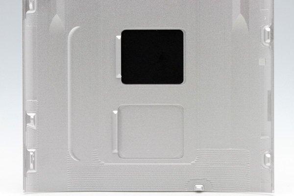 【ネコポス送料無料】HTC J One (HTL22) バックカバー シルバー  [4]