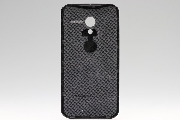 【ネコポス送料無料】Motorola Moto X バッテリーカバー woven black  [2]