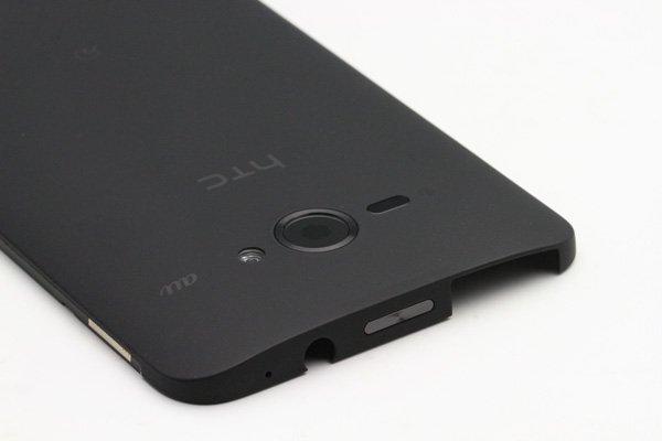 【ネコポス送料無料】HTC J butterfly (HTL21) バックカバー ブラック  [3]
