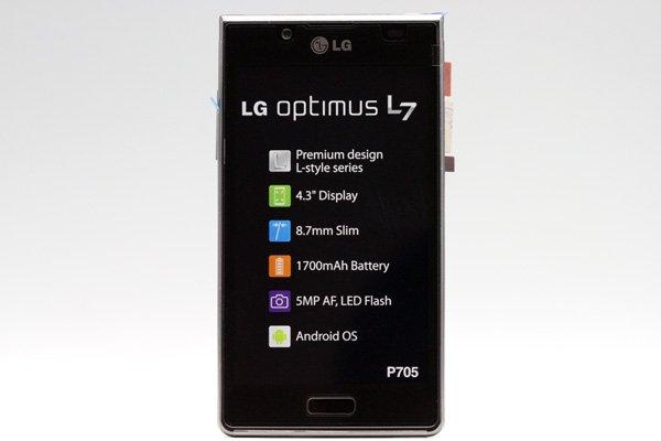 LG Optimus L7 P705 フロントパネルASSY ブラック  [1]