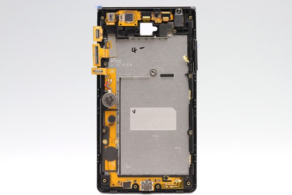 LG Optimus L7 P705 フロントパネルASSY ブラック  [2]