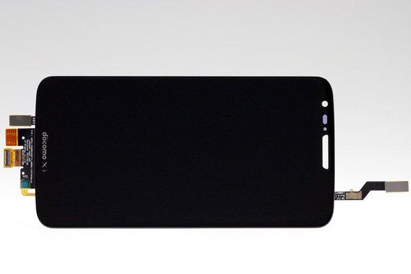 LG G2 L-01F フロントパネル ブラック  [1]