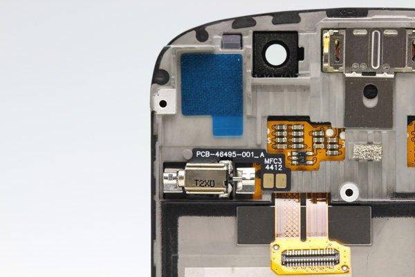 Blackberry Q10 フロントパネルASSY ブラック  [4]