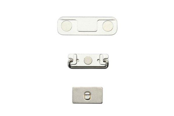 【ネコポス送料無料】Apple iPhone5 ボリューム スリープ マナーボタンセット シルバー  [2]