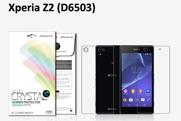 【ネコポス送料無料】Xperia Z2 (D6503) 液晶保護フィルムセット クリスタルクリアタイプ  [1]