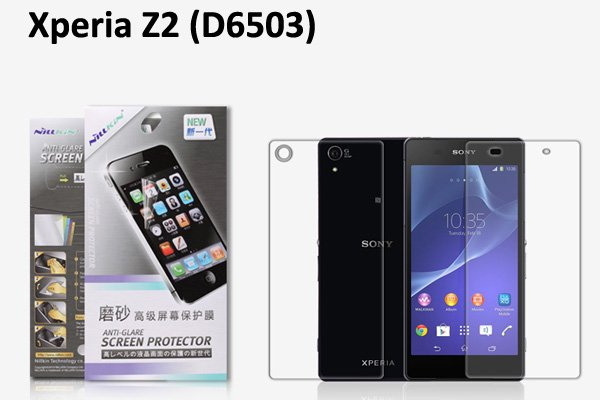 【ネコポス送料無料】Xperia Z2 (D6503) 液晶保護フィルムセット アンチグレアタイプ  [1]
