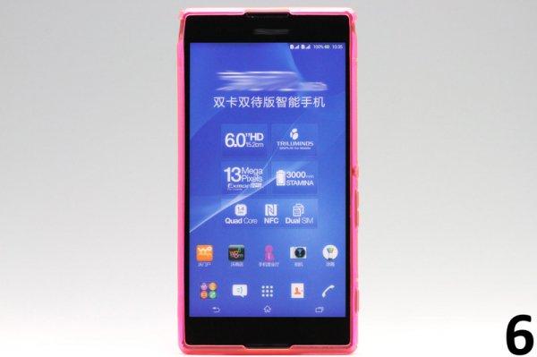 【ネコポス送料無料】Xperia T2 Ultra Dual(D5322) TPUケース 液晶保護フィルム付き 全8色  [11]