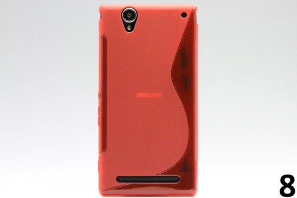 【ネコポス送料無料】Xperia T2 Ultra Dual(D5322) TPUケース 液晶保護フィルム付き 全8色  [16]