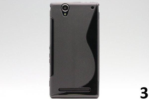 【ネコポス送料無料】Xperia T2 Ultra Dual(D5322) TPUケース 液晶保護フィルム付き 全8色  [6]