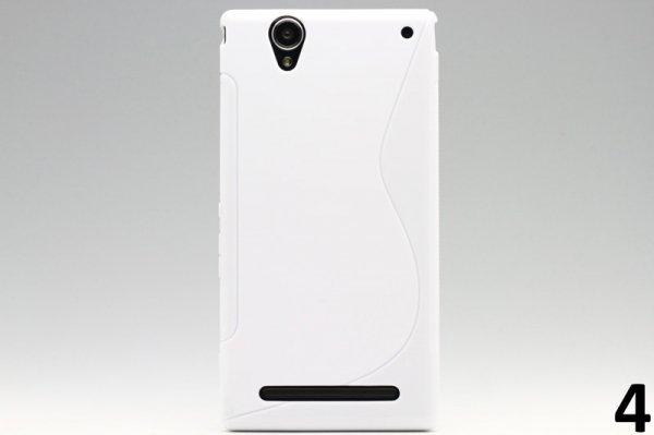 【ネコポス送料無料】Xperia T2 Ultra Dual(D5322) TPUケース 液晶保護フィルム付き 全8色  [8]