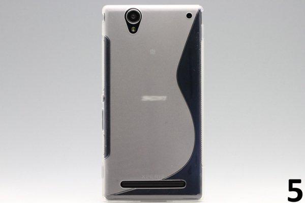 【ネコポス送料無料】Xperia T2 Ultra Dual(D5322) TPUケース 液晶保護フィルム付き 全8色  [10]