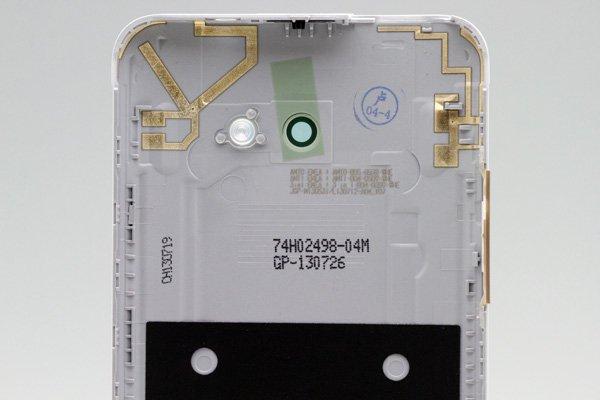 【ネコポス送料無料】HTC Butterfly S (901S) バックカバー ホワイト  [3]