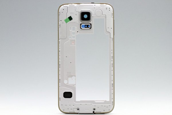 【ネコポス送料無料】Galaxy S5 (SM-G900) ミドルフレームASSY シルバー  [1]