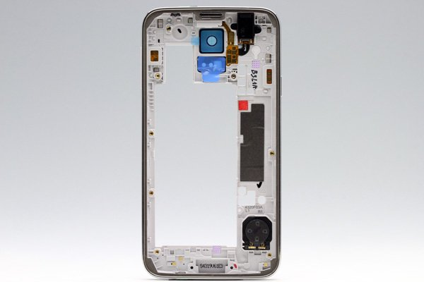 【ネコポス送料無料】Galaxy S5 (SM-G900) ミドルフレームASSY シルバー  [2]
