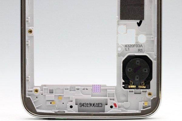 【ネコポス送料無料】Galaxy S5 (SM-G900) ミドルフレームASSY シルバー  [4]