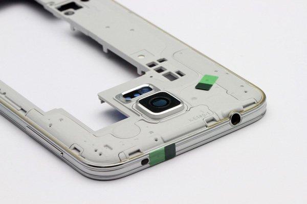 【ネコポス送料無料】Galaxy S5 (SM-G900) ミドルフレームASSY シルバー  [6]