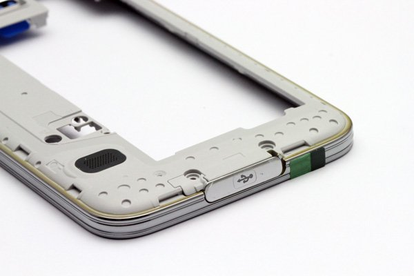 【ネコポス送料無料】Galaxy S5 (SM-G900) ミドルフレームASSY シルバー  [7]