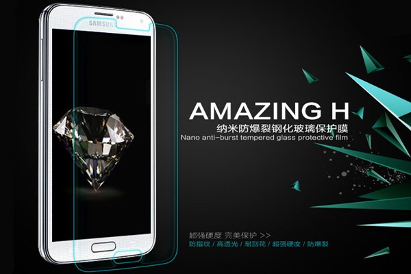 【ネコポス送料無料】Galaxy S5 (SM-G900 SC-04F SCL23) 強化ガラスフィルム ナノコーティング 硬度9H  [2]