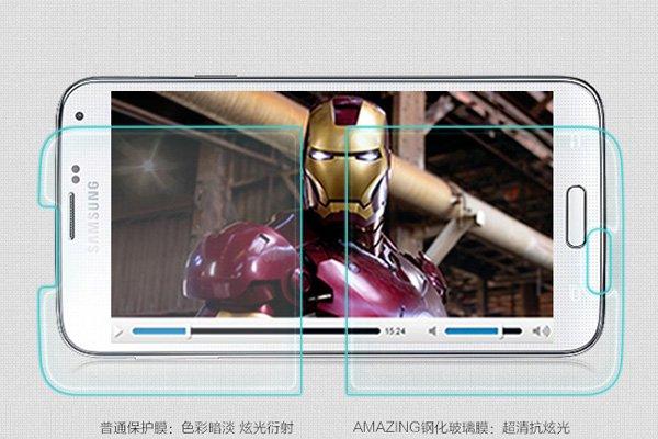 【ネコポス送料無料】Galaxy S5 (SM-G900 SC-04F SCL23) 強化ガラスフィルム ナノコーティング 硬度9H  [3]