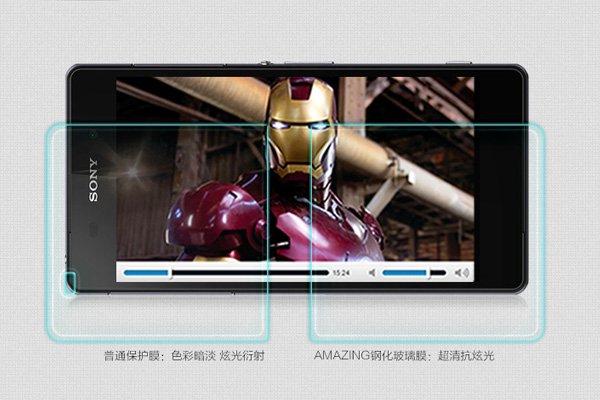 【ネコポス送料無料】Xperia T2 Ultra (D5322) 強化ガラスフィルム ナノコーティング 硬度9H  [3]
