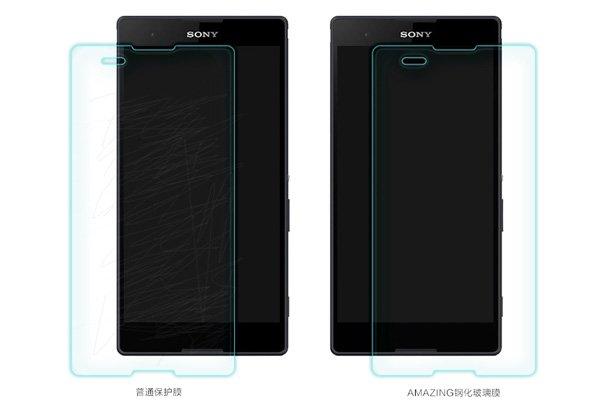 【ネコポス送料無料】Xperia T2 Ultra (D5322) 強化ガラスフィルム ナノコーティング 硬度9H  [7]