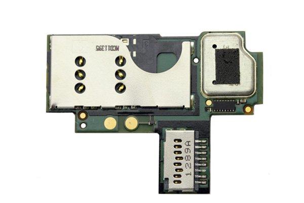 【ネコポス送料無料】Blackberry 9360 SIMスロット & SDスロットASSY  [1]