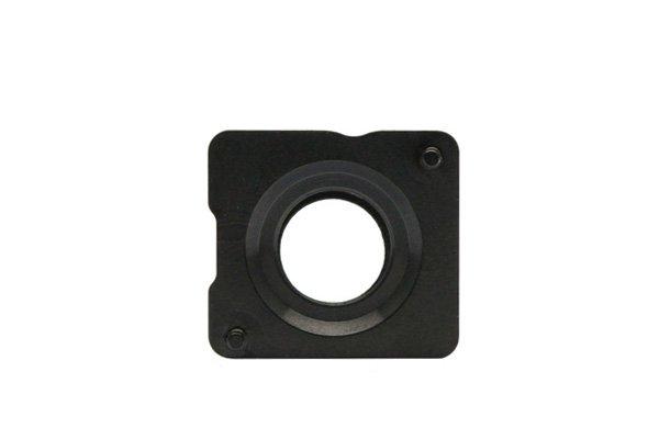 【ネコポス送料無料】Apple iPhone5s 背面ガラス上下セット ブラック  [6]