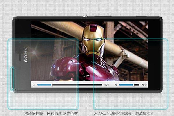 【ネコポス送料無料】Xperia M2 (D2305) 強化ガラスフィルム ナノコーティング 硬度9H  [3]