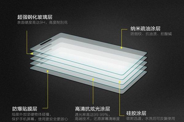 【ネコポス送料無料】Xperia M2 (D2305) 強化ガラスフィルム ナノコーティング 硬度9H  [4]