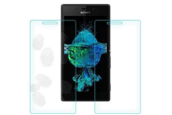 【ネコポス送料無料】Xperia M2 (D2305) 強化ガラスフィルム ナノコーティング 硬度9H  [7]