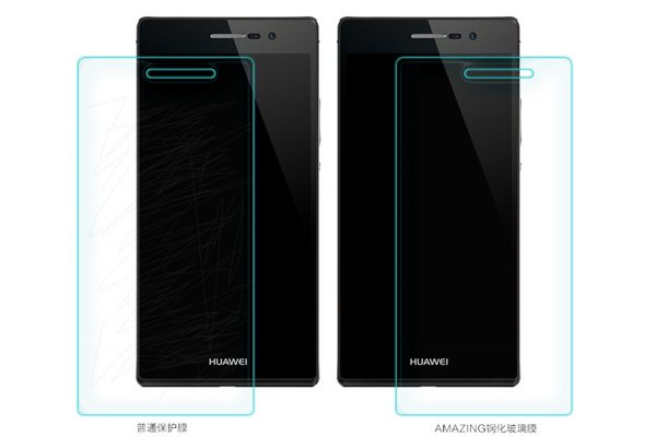 【ネコポス送料無料】Huawei Ascend P7 強化ガラスフィルム ナノコーティング 硬度9H  [6]