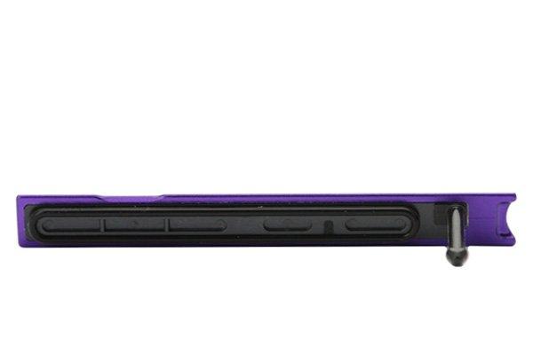 【ネコポス送料無料】Xperia Z Ultra (SOL24 C6833) キャップセット パープル  [3]